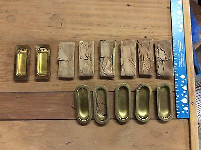 Vintage Brass Pocket or sliding door hardware.