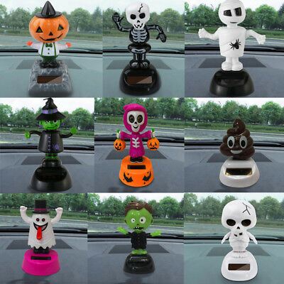 Solar Powered Dancing Halloween Swinging Animated Bobble Dancer Toy Car Decor
