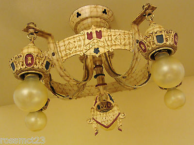 Vintage Lighting circa 1930 matched set One ceiling fixture Two sconces