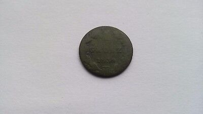1 Grosz 1839 Russian Possession 1832-1864. Vintage Copper coin.