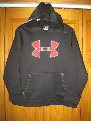 Under Armour Cold Gear sweatshirt hoodie YXL XL black red running fitness