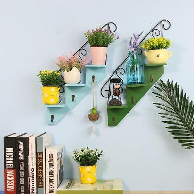 Wooden Staircase Flower Frame American Style Wall Hanging Shelf  Home Decor Hoo