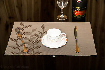 2 Pcs Brown PVC Quick-drying Placemat Insulation Mat Cup mat  for Kitchen Table