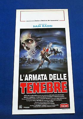 Army of Darkness -EVIL DEAD 3  FIRST EDITION ORIGINAL MOVIE POSTER FROM ITALY