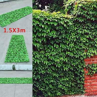 Artificial Ivy Leaf Hedge Screening Privacy Screen Garden Fence Panels uk