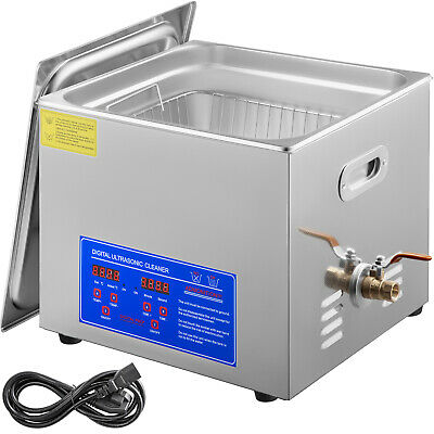 Ultrasonic Cleaners Cleaning Equipment 15L Industry Heater W/ Timer Jewelry