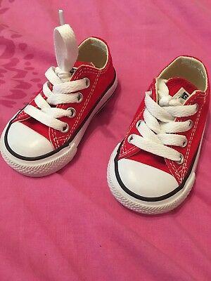 Infant Red Converse Size 3