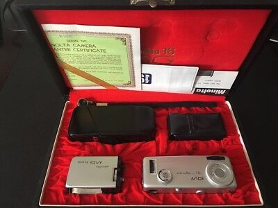 "Minolta Spionagekamera MG-16 Set ""60""ziger Jahr selten excellent Condition"