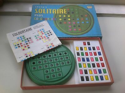 Vintage 1970 Board Game: Spear's Solitaire Plus Colourtaire  #2211.Complete.8+