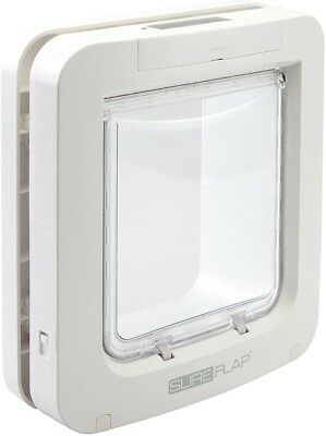 SureFlap Microchip Battery Powered Lockable White Pet Door for Cats and amp;