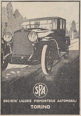 Z2702 Automobili SPA - Illustrazione - Pubblicità d'epoca - 1923 old advertising