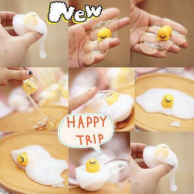 Novelty Splat Egg Squeeze Stress Reliever Venting Ball Joke Decompression Toys .