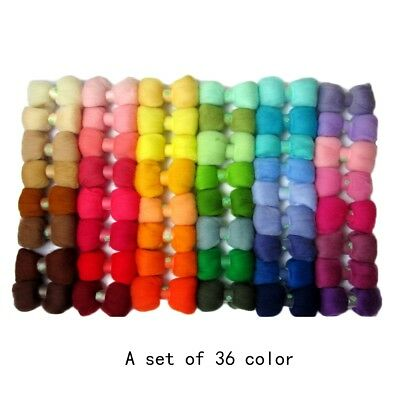 26/36 Colors Wool Felt + Needle Felt Tool Set Needle Felting Mat Starter Kit