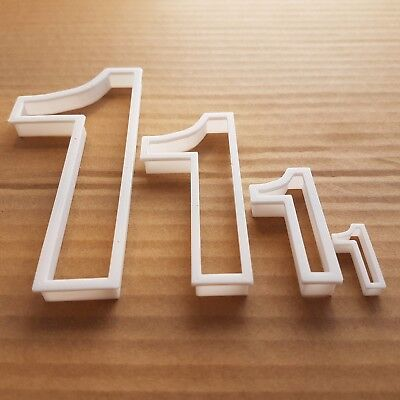 One 1 Number Digit Shape Cookie Cutter Dough Biscuit Pastry Fondant Sharp
