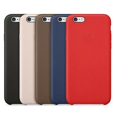 Ultra PU Genuine Leather Hard Back Case Cover For Apple iPhone 8 8plus + Film