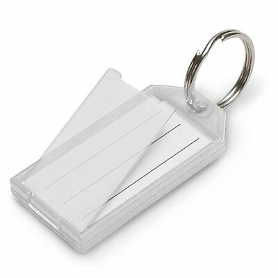 Lucky Line Key Tag with Flap and Split Ring, 10-Pack, Clear 6051010