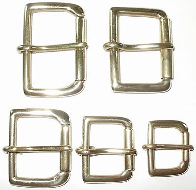 SOLID BRASS ROLLER BUCKLE 2 - 1 3/4 - 1 1/2 -1 1/4 - 1 - 3/4 INCH - 50mm - 20mm