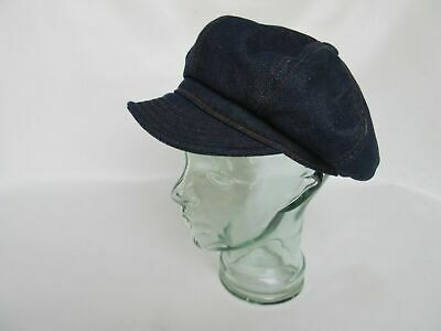 Denim Blue Slugger Cap Spitfire Hot Rod Rockabilly US Army WK2 Vintage Nose Art