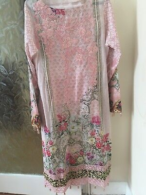 Brand New Luxury Designer Pakistani Lawn Suit*Honey Waqar* Stitched * S/M
