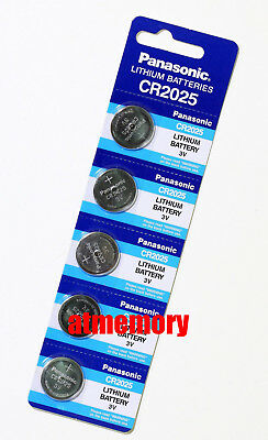 Panasonic CR2025 2025 ECR2025 3V Button Coin Cell Battery Genuine