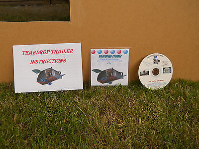 Teardrop Trailer,Pod,Tiny Caravan,Glamping,Plans,Template,Instructions,