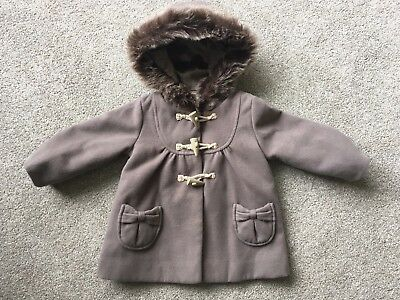 Monsoon Baby Girls Duffle Coat 12-18 Months