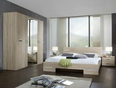 Qmax 'City' Range German Made Bedroom Furniture. Light Oak.