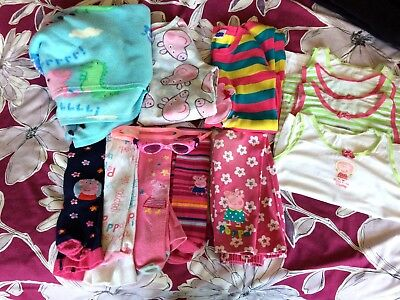 Bundle Girls Peppa Pig Clothes 5-6 Years Dress Tights Sweater Next George