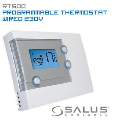 Salus Rt500 Digital 7 Day Programmable Room Thermostat Electronic Heating Stat