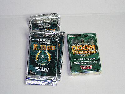 DOOM TROOPER Starterdeck und Booster Mortificator deutsch Truant DEUTSCH neu!