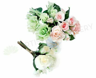 NEW Artificial Flowers/Plants New Real Feel Rose Bunch DIY wedding bouquet