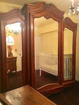 Beautiful Antique Mirrored Armoire