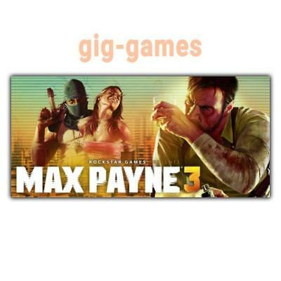 Max Payne 3 PC spiel Steam Download Digital Link DE/EU/USA Key Code Gift