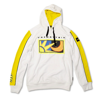 Moto Gp Official Vr46 Valentino Rossi Adult Fleece Hoodie Mens Large
