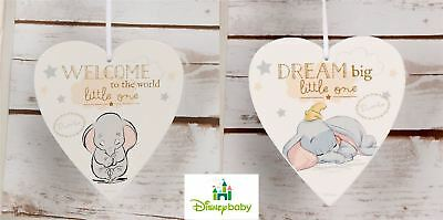 Disney Baby Magical Beginnings Heart Plaque Dream Big & Welcome to the World