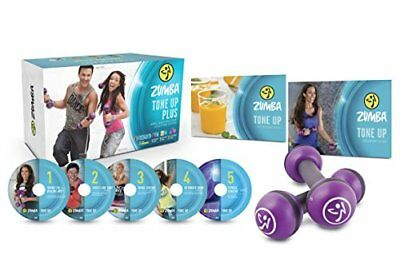 ZUMBA TONE Up DVD System 5 DVDs + 2.5 Toning Weights ...