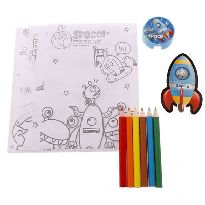 Cheap Space Themed Gift for Kids Stationery Set - Colouring Pencils - Astronaut
