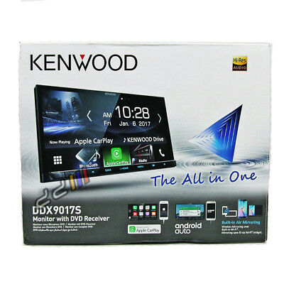 "Kenwood DDX9017S 7"" WiFi Apple CarPlay Android Auto DVD Double DIN Car Stereo"