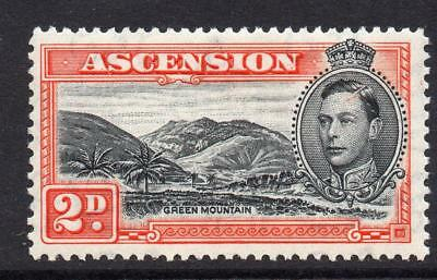 Ascension 2d Stamp c1938-53 Mounted Mint SG41a Perf 13