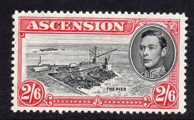 Ascension 2/6 Stamp c1938-53 Mounted Mint SG45c Perf 13