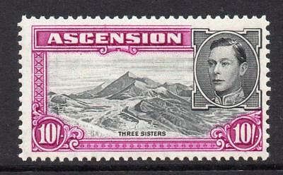 Ascension 10/- Stamp c1938-53 Mounted Mint SG47a Perf 13 (Cat £48)