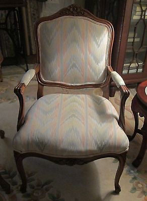 French Louis XV Style Arm Chair (Fauteuil)