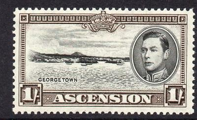 Ascension 1/- Stamp c1938-53 Mounted Mint SG44 Perf 13.5