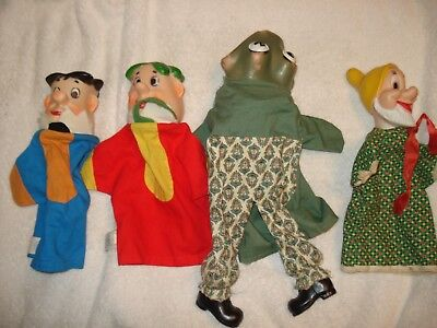 Lot of Four Hand Puppet, One Disney, Two Hanna-Barbera & One Hazelle