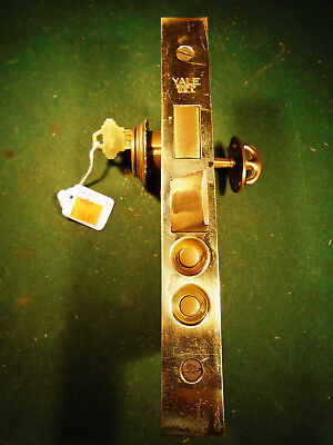 "VINTAGE YALE DEADBOLT MORTISE LOCK w/CYLINDER, KEY, 8"" FACEPLATE (9501-3)"