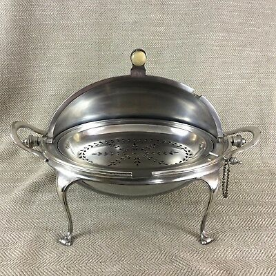 English Silver Plated Revolving Breakfast Dish by Mappin & Webb 1926