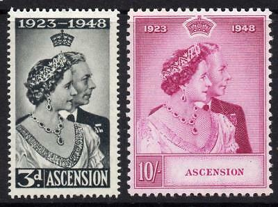 Ascension Silver Wedding Set of Stamps c1948 Mounted Mint (Cat £55+)