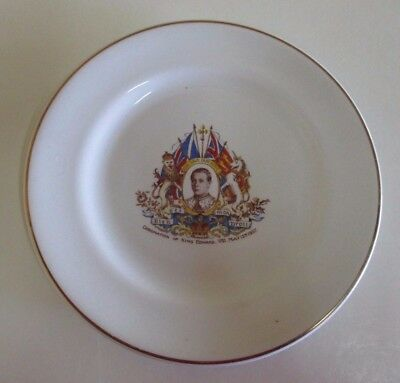 1937 King Edward VIII Coronation Side Plate - Edward Abdicated in December 1936