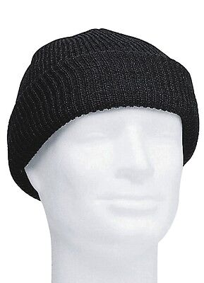 US Army Watch Cap Black One Size Beanie Knitted Cap Hat Round Cap WWII WK2