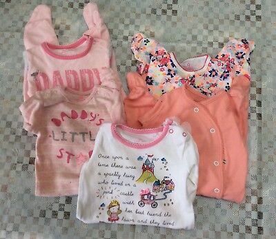 Baby Girl Next Babygrow Bundle, Newborn